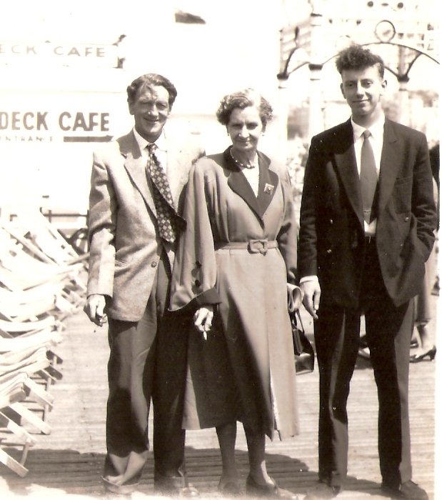 Mary,Henry and Peter on Brighton Pier