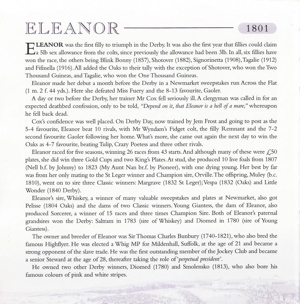 Eleanor Derby & Oaks 1801